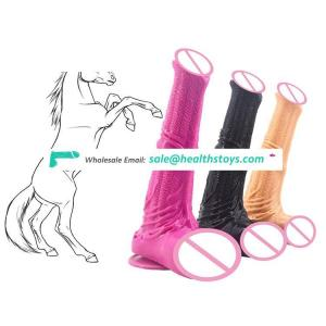 "FAAK 25cm 10"" 4.8cm big silicone dildo soft realistic anal toys flexible butt plug lifelike huge animal horse dildo for women"