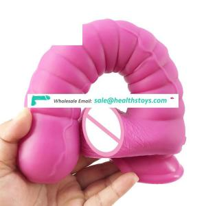 """FAAK 28.5cm 11"""" 5.3cm large silicone dildo huge anal sex toys long butt plug round head shape pink sex products for male"""