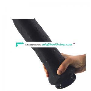 FAAK 28.5cm oem black dildo Juguetes sexuales realistic silicone rubber penis wholesale toys sex adult