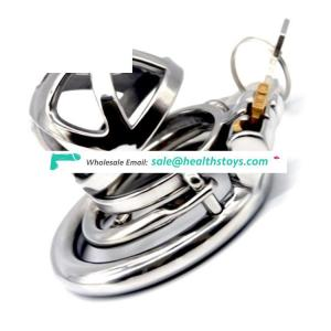 FAAK 49mm 304stainless steel metal  penis cage for man  with clasp  chastity device chastity cage for male SM