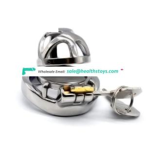 FAAK 5.1cm curved cock ring metal chastity cage chastity device penis cage for male