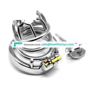FAAK 5.2cm curved cock ring metal chastity cage 304 stainless steel penis cage for male chastity device chastity cage
