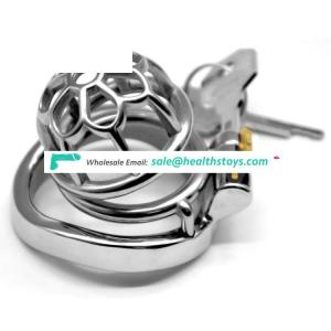 FAAK 5.2cm metal chastity cage 304 stainless steel penis cage for male chastity device with catheter  chastity cage