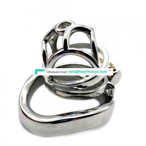 FAAK 5.6cm wholesale sex toys metal chastity cage penis cage for male chastity device  chastity cage stainless steel