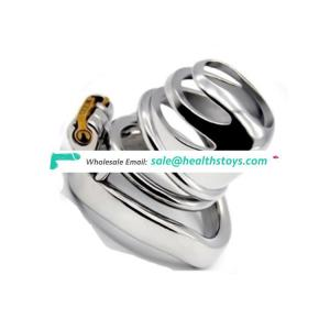 FAAK 5.7cm  304stainless steel man chastity lock penis cage for male chastity device metal  chastity cage