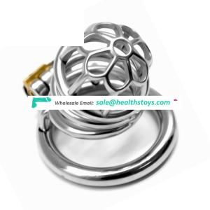 FAAK 58mm 304 stainless steel chastity lock cage penis cage for male chastity device sm chastity cage
