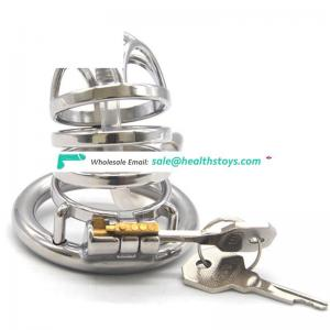 FAAK 6.6CM  penis cage for male chastity device stainless steel chastity cage metal man chastity cage