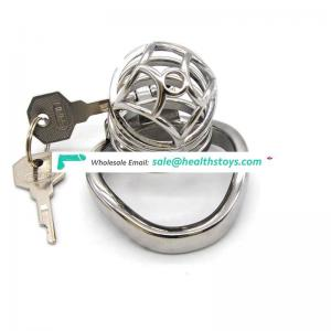 FAAK 6.6cm  metal chastity cage stainless steel chastity device SM Sex products penis cage for male