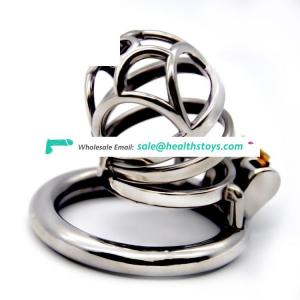 FAAK 60mm 304stainless steel toys  sex wholesale  cock ring chastity lock penis cage for male chastity device chastity cage