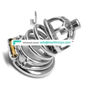 FAAK 64mm 304 stainless steel penis cage for male chastity device with catheter Clasp sex products chastity cage for men sex toy