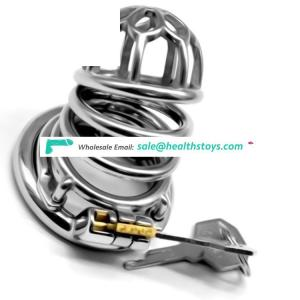 FAAK 64mm SM toys 304stainless steel metal chastity cage male chastity device penis cage for man  with clasp