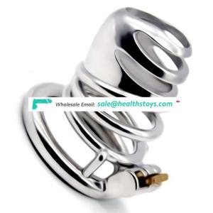 FAAK 66mm 304stainless steel  wholesale sex toys cock ring chastity lock penis cage for male chastity device chastity cage