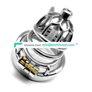 FAAK 6cm curved ring SM sex products 304stainless steel metal  penis cage for male chastity device with catheter chastity cage