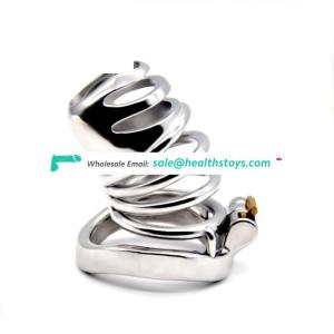 FAAK 7.5cm stainless steel man chastity cage penis cage for male chastity device metal chastity cage