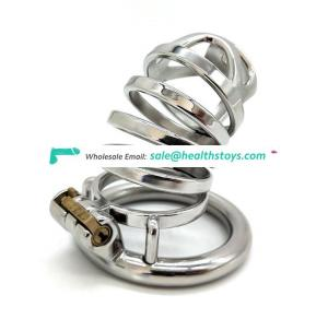 FAAK 70mm chastity device SM sex toys chastity cage stainless steelman chastity cage penis cage for male