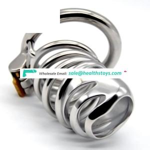 FAAK 72mm  304stainless steel cock ring man chastity lock penis cage for male chastity device  chastity cage