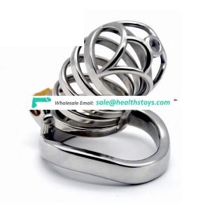 FAAK 74mm 304 stainless steel chastity lock cage penis cage for male chastity device cock ring  chastity cage
