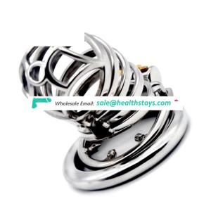 FAAK 7cm   chastity cage stainless steel chastity lock cage  penis cock cage for male chastity device
