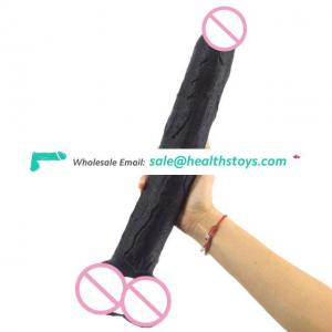 FAAK Adult Sex Toys High Quality  PVC Plastic Super Soft Double Layered Realistic Dildos with Ball and Suction Cup for Woman