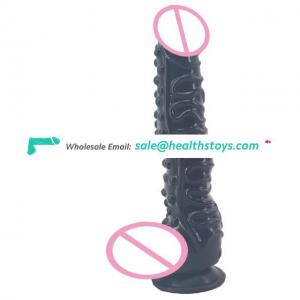 FAAK Adult Silicon Sex Toys Hign Elasticity and Realistic Shape Rubber Super Realistic Dildo Penis with Suction Cup for Woman