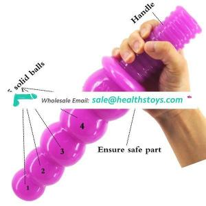 FAAK Anus Beads with Handle Anal plug Juguetes Sexuales Butt Plug With Solid Balls Stimulative Unisex Sex Toy Sex Toys For Wome