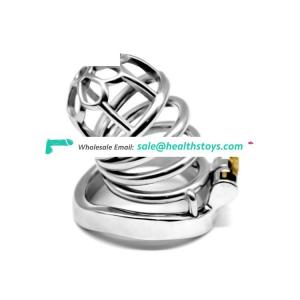 FAAK Curved ring Metal chastity cock cage lock sex toys stainless steel cage for fight cock for Adult Games men Urethral tube