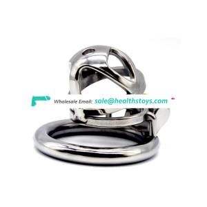 FAAK FRRK 04 Male Stainless Steel Chastity Device Belt Bird Metal Cage Cock Lock Restraint Ring Sex Toy Small Cock Cage for Men