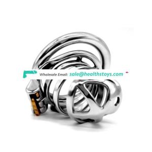 FAAK FRRK-05E SM Cage 304 Stainless Steel Restraint Ring Trick Cock Lock For Couple Chastity Device Anti-off ring For adult