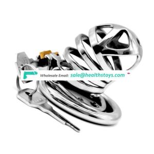 FAAK FRRK-06E Big Dick Chastity Device Sex Penis Cage Chastity Device Bondage Cage 304 Stainless Steel Sex Games For Adult