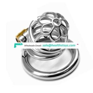 FAAK FRRK Male 304 Stainless Steel Chastity Device Belt Bird Metal Cage Cock Lock Restraint Ring Cock Cage Sex Toy for Men