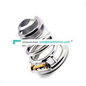 FAAK FRRK Male Chastity Belt Stainless New Design Chastity Penis Cage Metal Penis Lock Device big cock cage With Hook for men