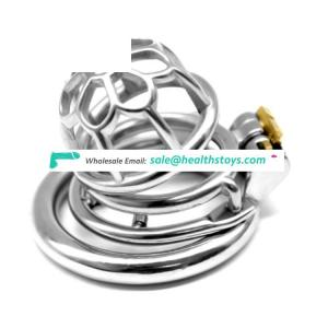 FAAK FRRK Male Stainless Steel Chastity Device Belt Bird Metal Cage Cock Lock Restraint Ring Sex Toy Chastity Cock Cage for Men