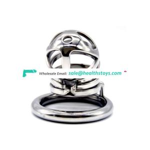 FAAK FRRK Male Stainless Steel Chastity Device Metal Cock Cage Penis Lock Sex Toys penis cock cage penis ring sex toys with belt