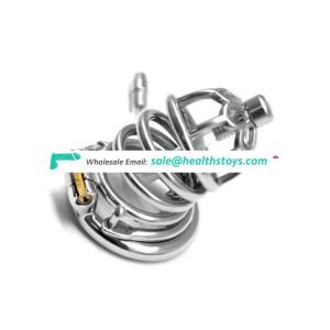 FAAK FRRK New Male Cage Lock Stainless Steel Chastity Device Metal Cock Cage Erotic Toys Cock Cage Penis Sleeve for Adult Games