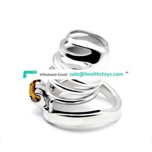 FAAK FRRK Prison Bird Male Stainless Steel Cock Cage Penis Ring Chastity Device New Lock Adult Sex Toy adult sex toys for men
