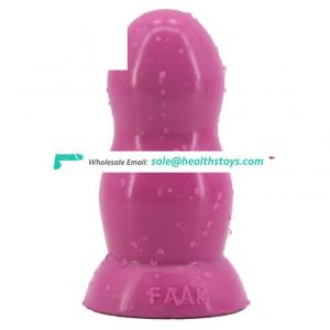 """FAAK-G137  7"""" Huge Soft Lifelike Flesh Painted Mushroom And Real Balls Dildo Compatible With Harness tpe doll fleshlight sex toy"""