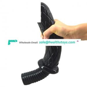 FAAK Handle Type Flexible Simulates Adult Sex Toys and G Spot Masturbation Long Anal Plug Penis for Female