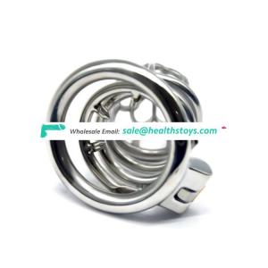 FAAK Male Chastity Device 304 Stainless Steel Metal Cage Sex Games Cock Lock SM Game Cage With Anti-off ring multifunction
