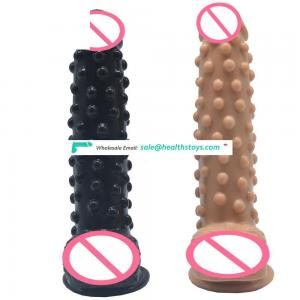 FAAK Raised Dots Thick Medium Size Rubber Penis Dildo Silicone Realistic Anal Toys Porno Adult Sex Adult Sex Dildo for Female