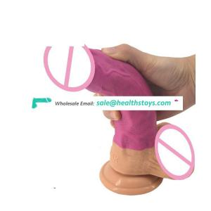 FAAK Realistic soft silicone top selling 8inch double layer dildo toys sex adult rubber penis dildo oem