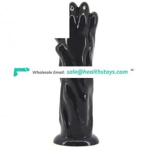 FAAK Soft PVC Flexible Dildo healthy material Anal Plug with Suction Cup Sex Toys for Women