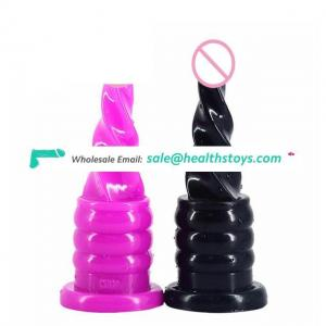 FAAK Spiral Anal Plug Flexible Adult Sex Toys and Waterproof Masturbation Sex Toys for Women and Man