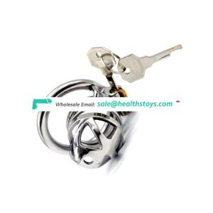 FAAK Stainless Steel Chastity Device Male Gay Cock Lock Bondage Cage Large Bird Restraint Ring Sex Toy Prison Cage