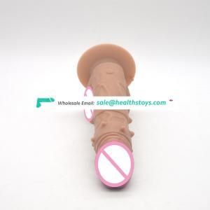 FAAK convex dotted penis  New sex Vibrator remote control Vibrator rotation head G Spot  Silicone vibrator sex toy women adult