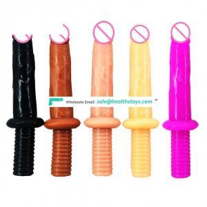 FAAK realistic skin dildo screw handle butt plug sex toys anal erotic products ass massage sex shop lesbian masturbate flirting