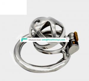 FAAK sex shop  4.9cm steel chastity juguetes sexuales male chastity cage adult sex toy wholesale male chastity device