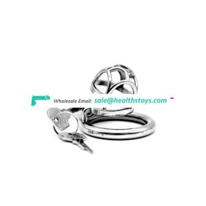 FAAK wholesale erotic sexual stainless steel artificial penis cage adult sex toys cock lock cage metal chastity device for men