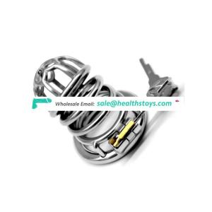 FRRK 03 Male  304 Stainless Steel Metal Chastity Device with catheter Prison Cage Cage Sex Games Restraint Ring For Adult