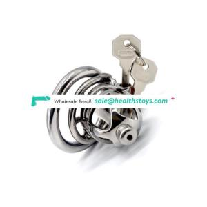 FRRK 04B Chastity Device Male Restraint Ring 304 Stainless Steel SM Cage Prison Cage Penis Ring For Couple Sex Life 3D Cage