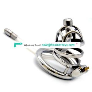 FRRK 08A Male Chastity Cage 304 Stainless Steel Cock Lock Sex Games Prison Cage SM Cage With Catheter Restraint Ring